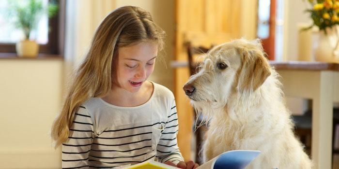 KID READING TO DOG facebook