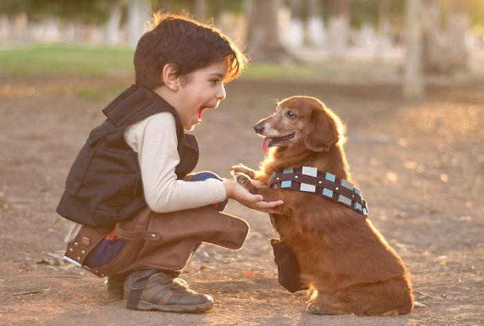 kid with dog 700