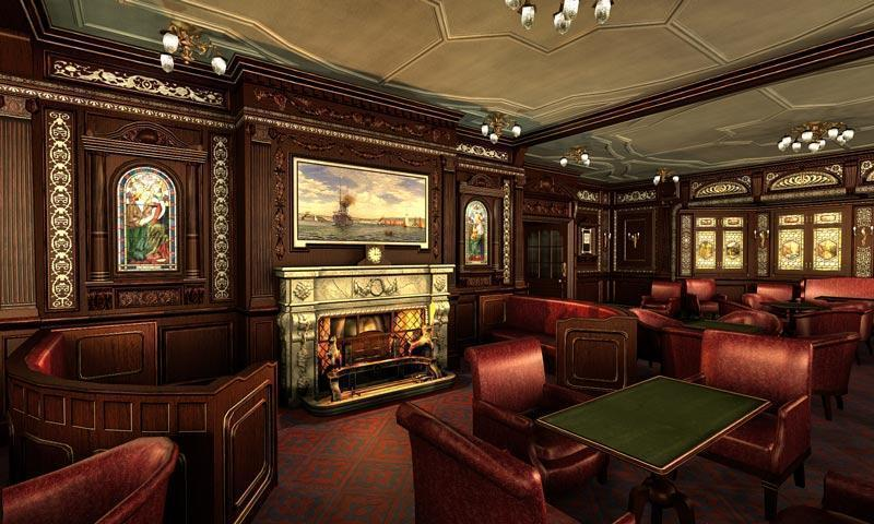 fireplaces800 smoking room on the titanic