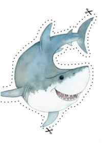 kids shark cutout