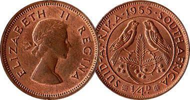 south africa farthing 1955