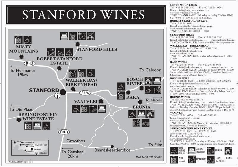 STANFORD WINES MAP800