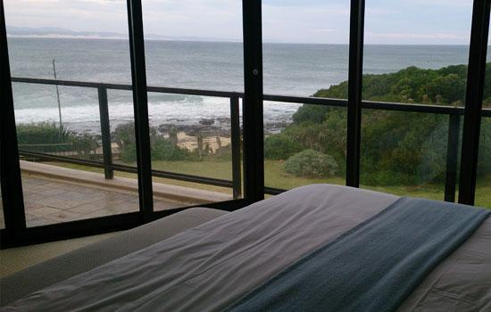 Seaview from the bed
