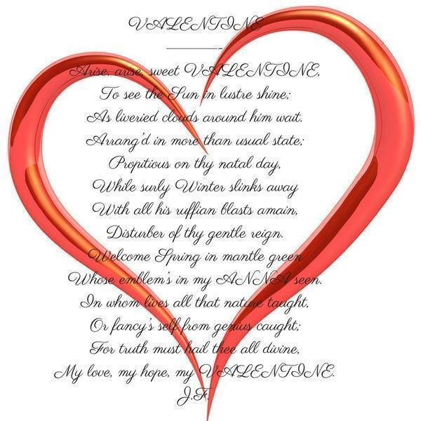 valentine 18th century poem