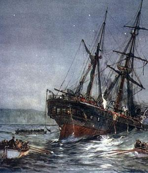 Heroic HMS Birkenhead Sinks