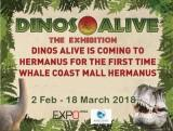 Dinos Alive Exhibition Live in Hermanus from 2 Feb till18 March 2018