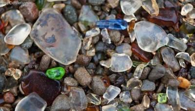 What is a sea glass beach?