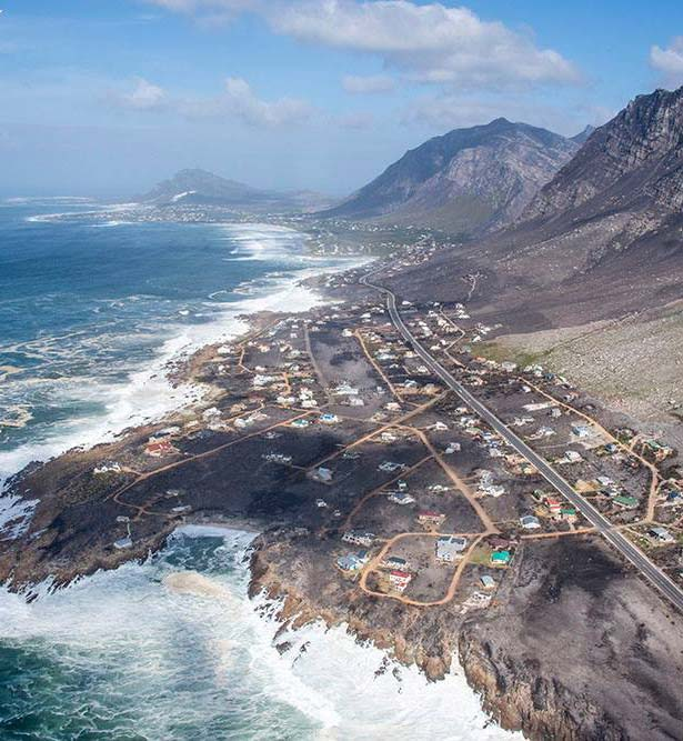 In pictures - The Horrific aftermath of Overstrand fires raging through Betty's Bay, Hermanus and Franskraal in January 2019